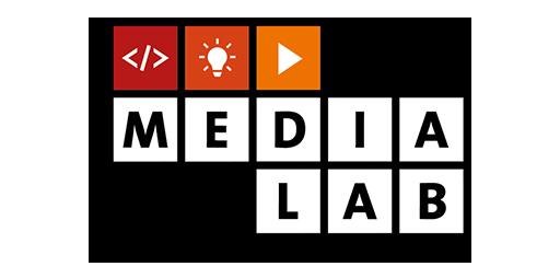logo van het medialab van de bibliotheek eemland in amersfoort