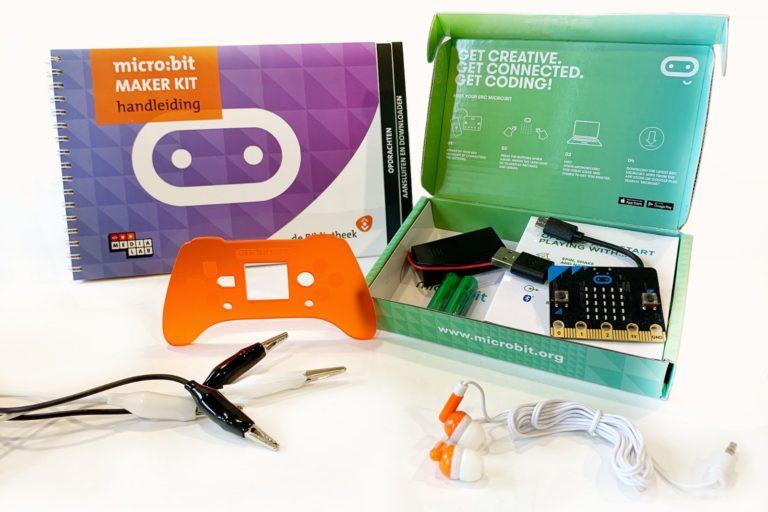 micro:bit makerkit van het medialab van de bibliotheek eemland in amersfoort